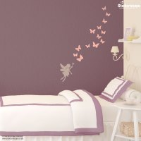 Fairies and butterflies wall sticker | Stickerscape | UK