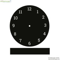 Clock chalkboard wall sticker | Stickerscape | UK