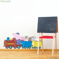 Peppa and Friends train wall sticker | Stickerscape | UK