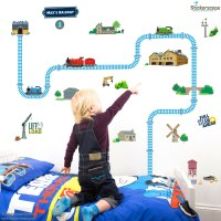 Personalised Thomas and Friends track wall sticker ...