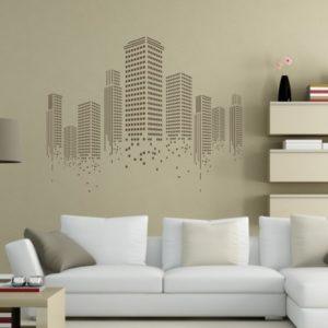 Adesivo murale raffigurante lo skyline di new york per decorare con gusto la sala, lo studio. Adesivi Murali New York E Usa Stickers Factory