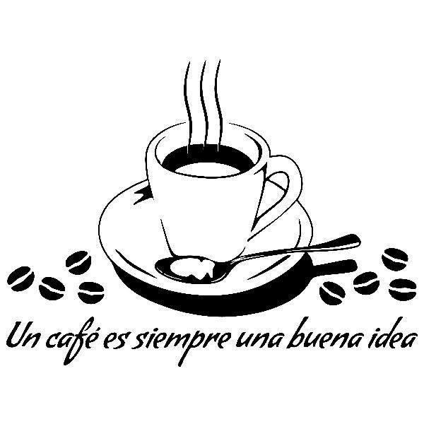 Adesivo murale per la cucina Un caffè è sempre una buona idea