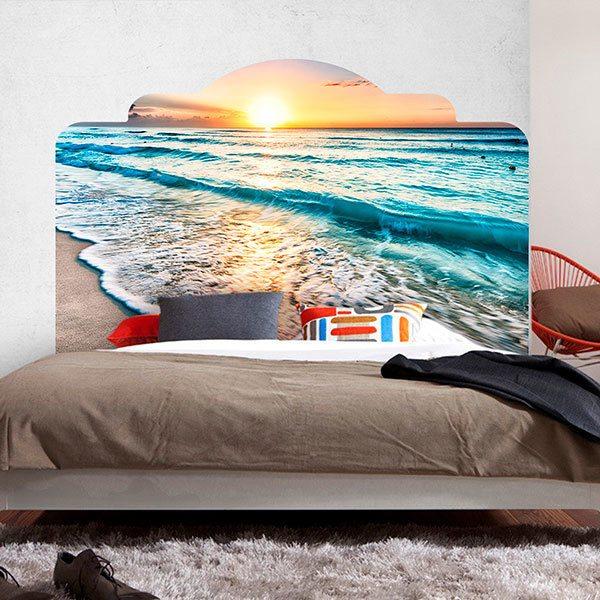 Visualizza altre idee su adesivi murali, murale, mobili vintage. Stickers Murali Testata Letto Tramonto Sulla Spiaggia Stickersmurali Com