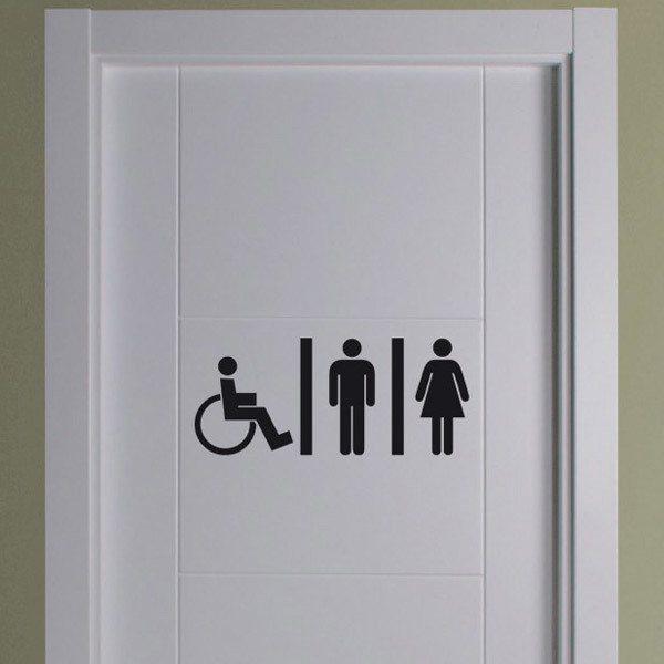 Sticker Murali Bagno WC Mixto persone disabili