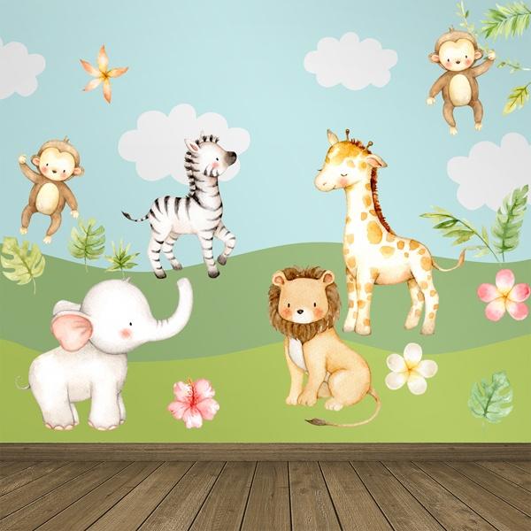 Compra online i tuoi adesivi murali e crea un mondo per il tuo bimbo con leostickers®! Adesivi Murali Animali Bambini Stickersmurali Com
