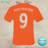 Personalised Football shirt with number wall art - wall ...