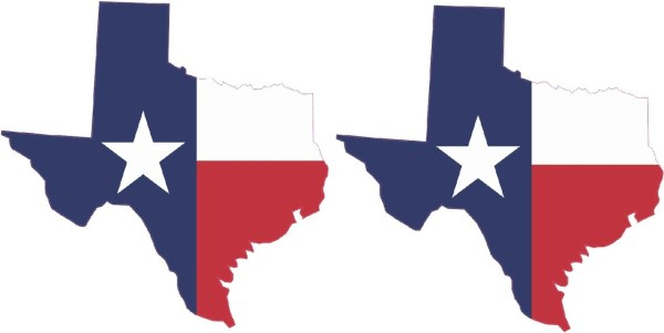 Die Cut Texas State Flag Sticker