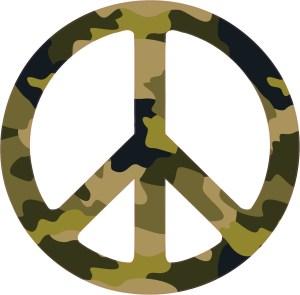 Camo Peace Sign Bumper Sticker