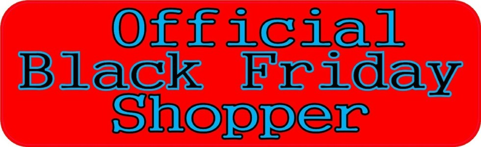 Official Black Friday Shopper Bumper Sticker