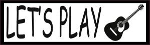 Let's Play Guitar Bumper Sticker
