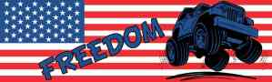 US FLAG JEEP FREEDOM