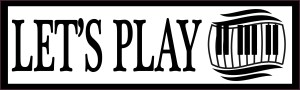 Let's Play Piano Bumper Sticker