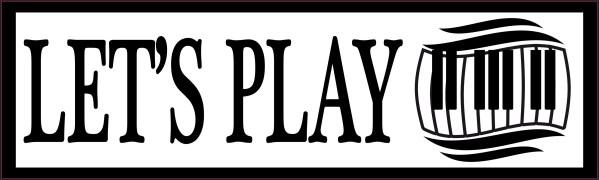 Let's Play Piano Bumper Sticker