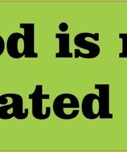 god is my designated driver sticker