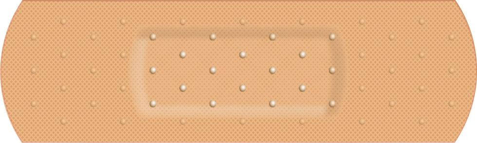 Bandage Band Aid Cover Bumper Sticker