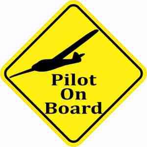 Small Plane Pilot On Board Sticker