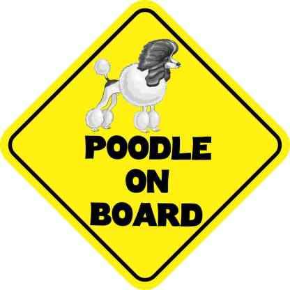Poodle On Board Magnet