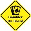 Card Gambler On Board Magnet