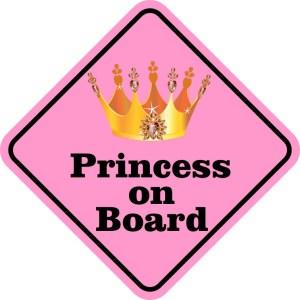 Princess on Board Magnet