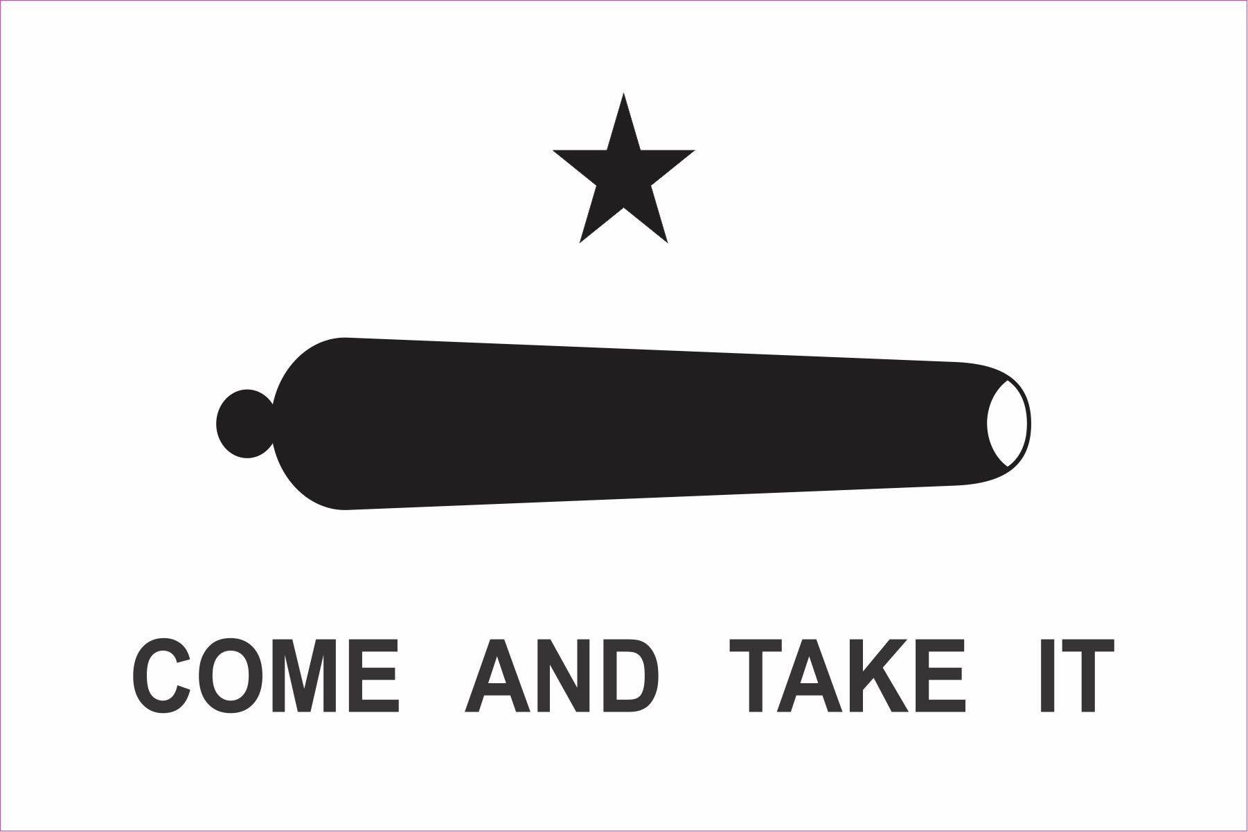 5in X 3in Come And Take It Magnet Vinyl Gonzales Battle Vehicle