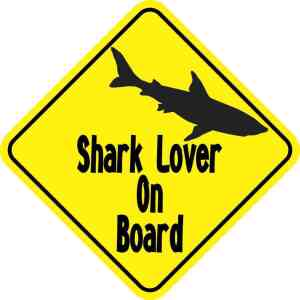 Shark Lover on Board Magnet