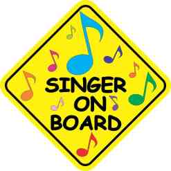 Singer On Board Magnet