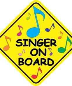 Singer On Board Magnet