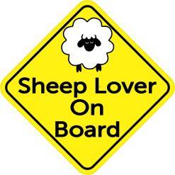 Sheep Lover On Board Sticker