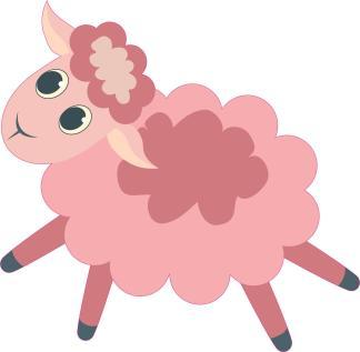 Pink Dark Light Sheep Stickers