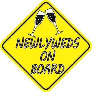 Newlyweds On Board Sticker