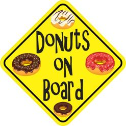 Donuts On Board Sticker