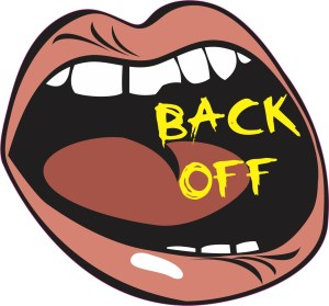 big mouth back off sticker
