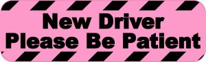 Pink New Driver Please Be Patient Magnet