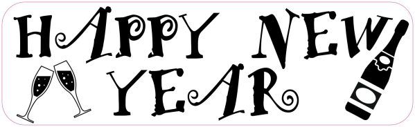 Happy New Year Bumper Sticker