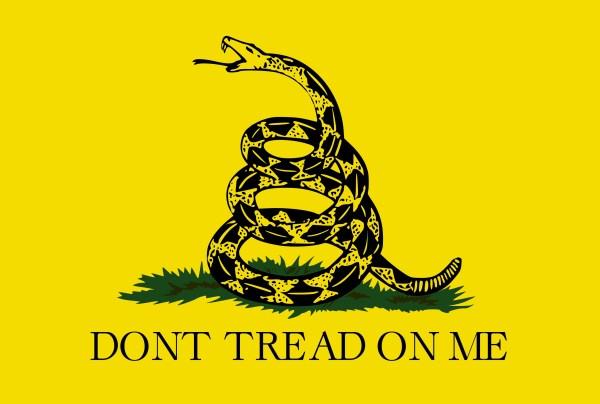 Gadsden flag decal