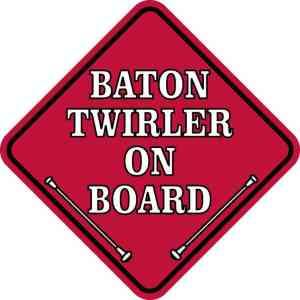 Red Baton Twirler on Board Magnet