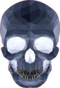 blue crystal skull bumper sticker