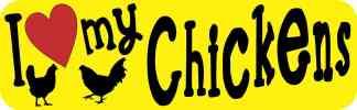 I Love My Chickens bumper sticker
