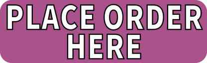 Purple Place Order Here sticker