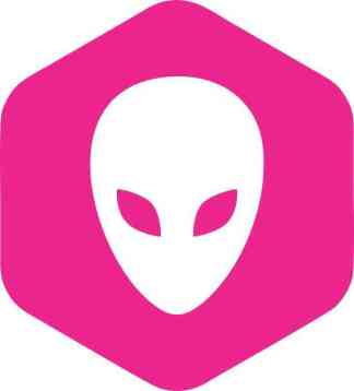 Pink Hexagonal Alien bumper sticker