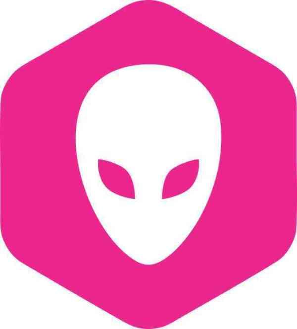 Pink Hexagonal Alien bumper sticker