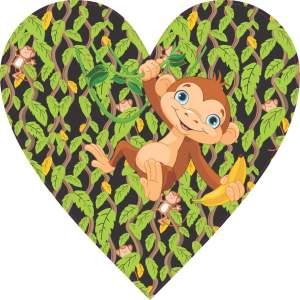 Monkey Heart bumper sticker