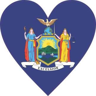 New York Flag Heart sticker