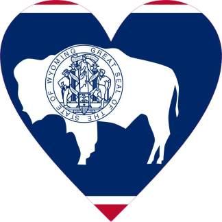 Wyoming Heart sticker