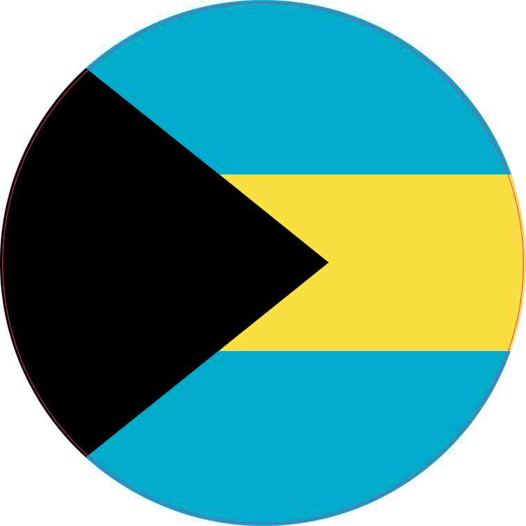 Circular bahamas flag sticker