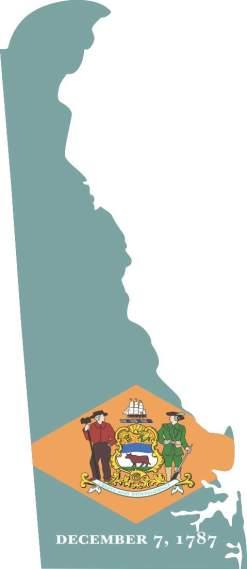 Die Cut Delaware sticker