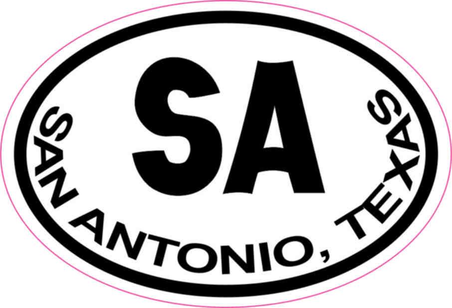 Oval San Antonio Sticker