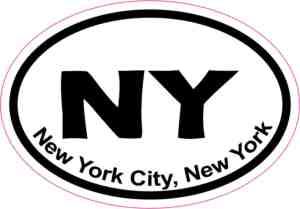 Oval New York City sticker