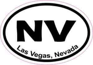 Oval Las Vegas sticker