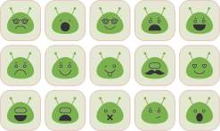 Green Alien stickers